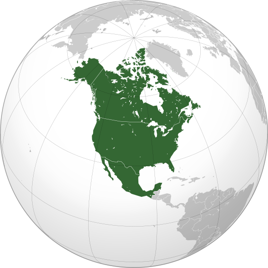 NAFTA mapa tratado libre comercio América